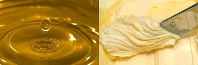 Converting oil to butter - 85 grams of oil for every 100 grams of butter